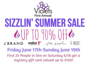 Up to 90% off at Violet's this weekend during the inaugural summer sale