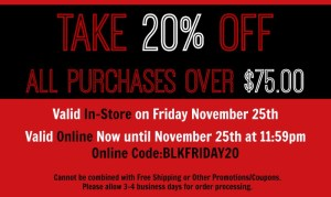 Black Friday - Red and White Shop