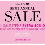 bevello semi-annual sale