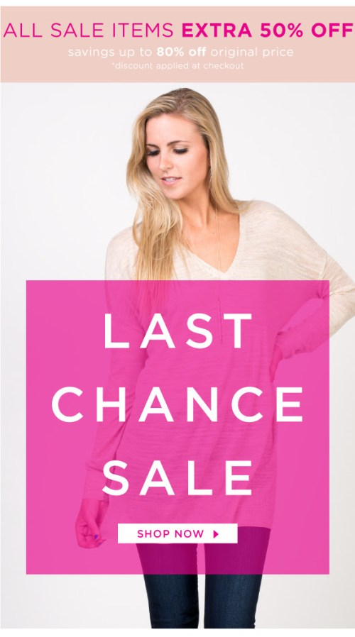 last chance sale at bevello