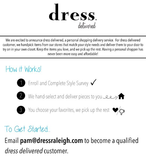 personal shopping by dress delivered to your home