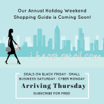 Raleigh Black Friday, Small Business Saturday, and Cyber Monday Local Shopping