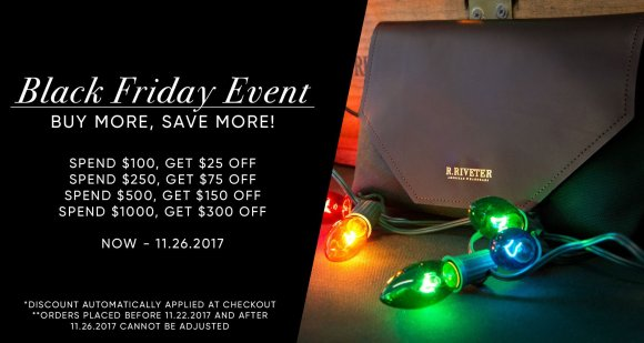 R.Riveter Black Friday Sale