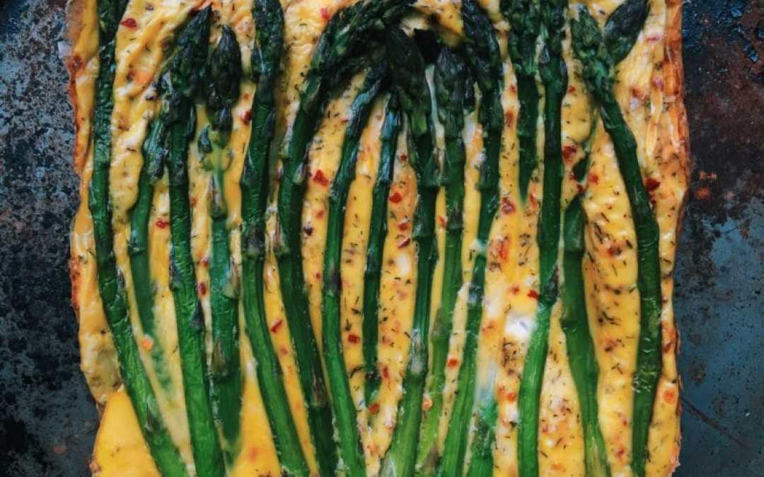 Baked Asparagus Coconut Cream Frittata