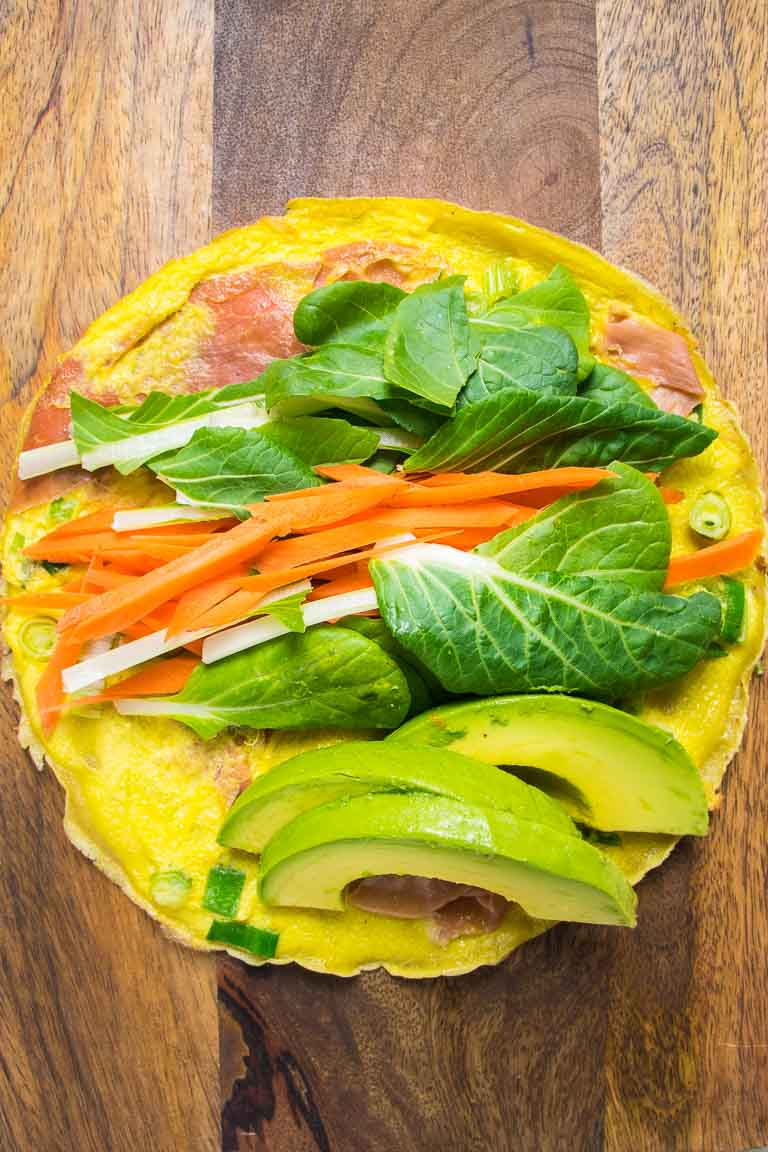 Paleo breakfast Dan Bing Taiwanese Breakfast Crepes recipe.
