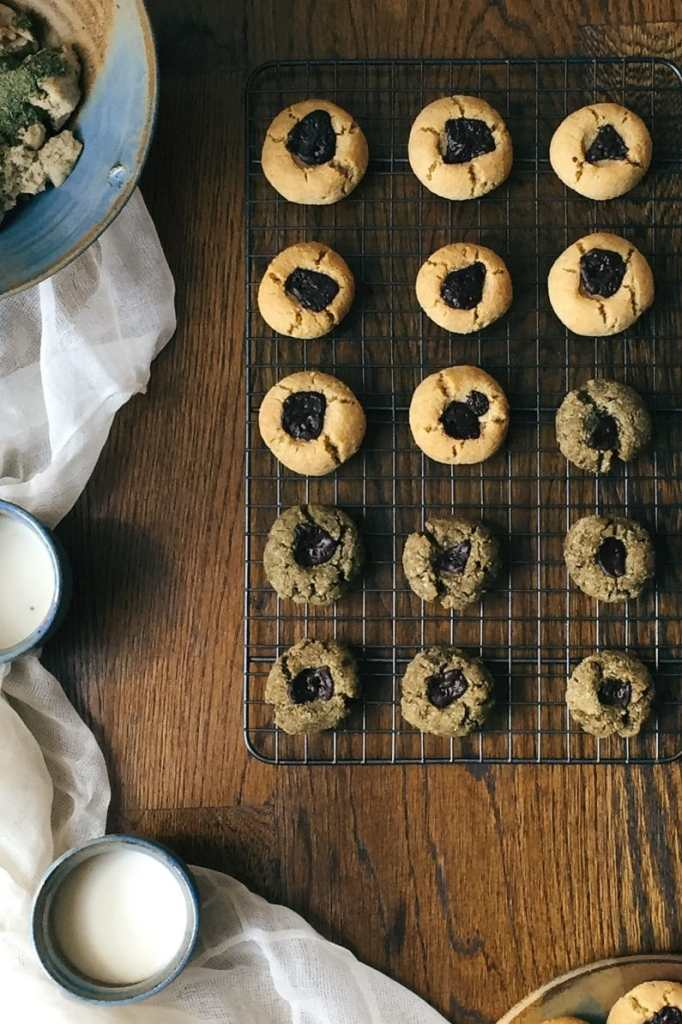 Paleo Matcha and Pine Nut Cookies