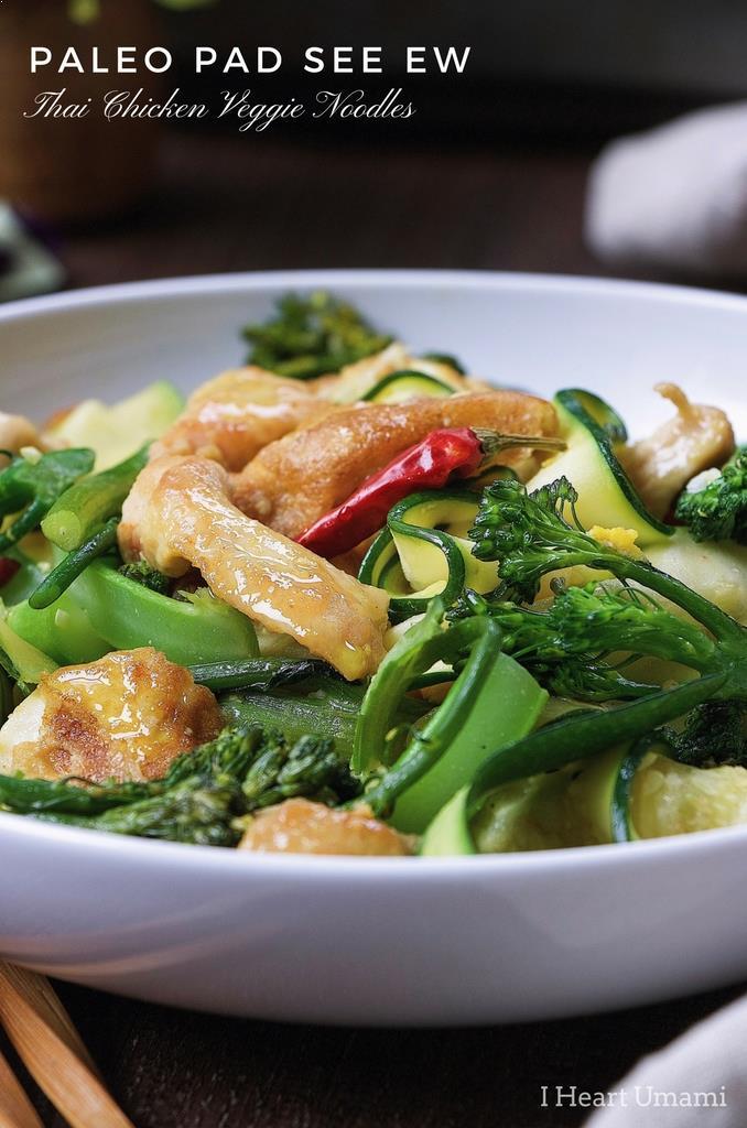 Paleo Pad See Ew Whole30 Thai Stir-Fried Noodles Pad See Ew