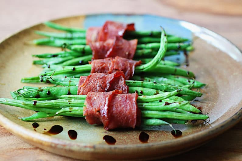 Bacon wrapped green beans recipe