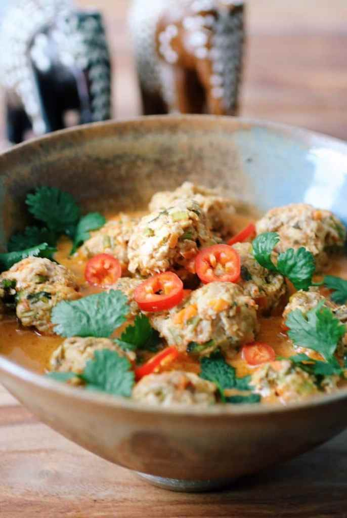 Coconut Curry Meatball Soup