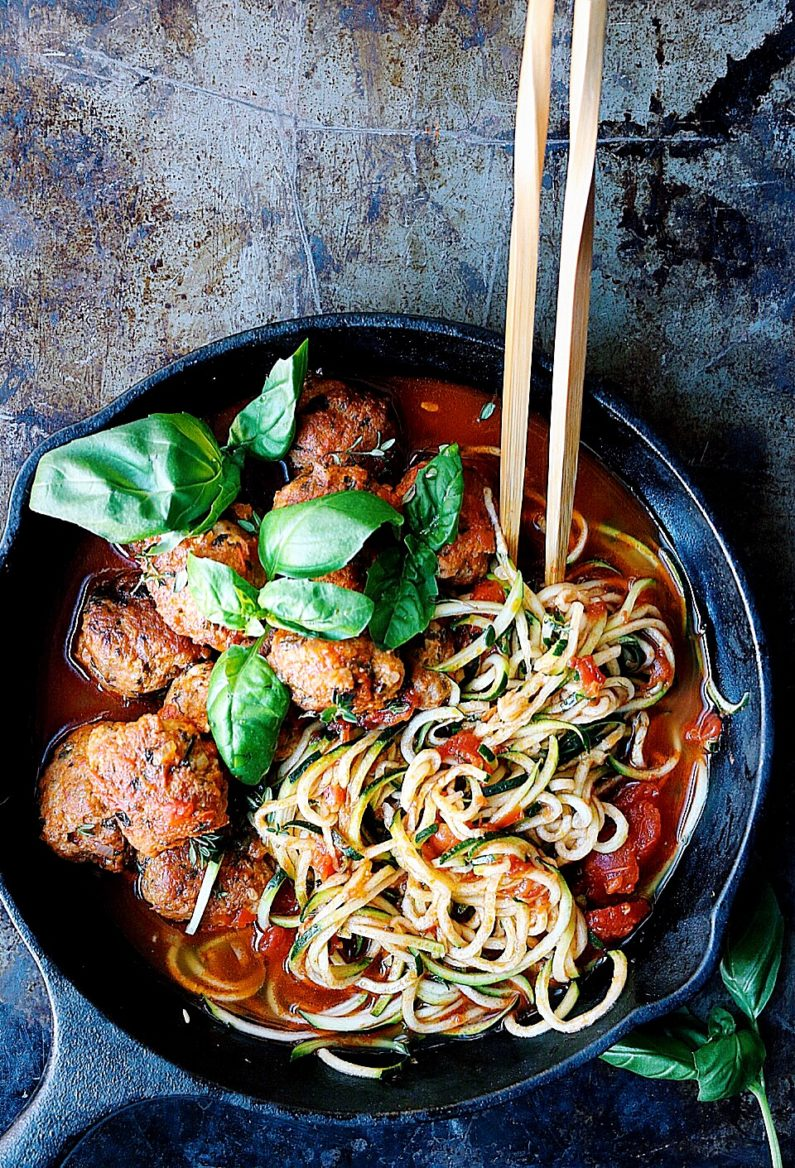 Moroccan spaghetti meatballs recipe from I Heart Umami