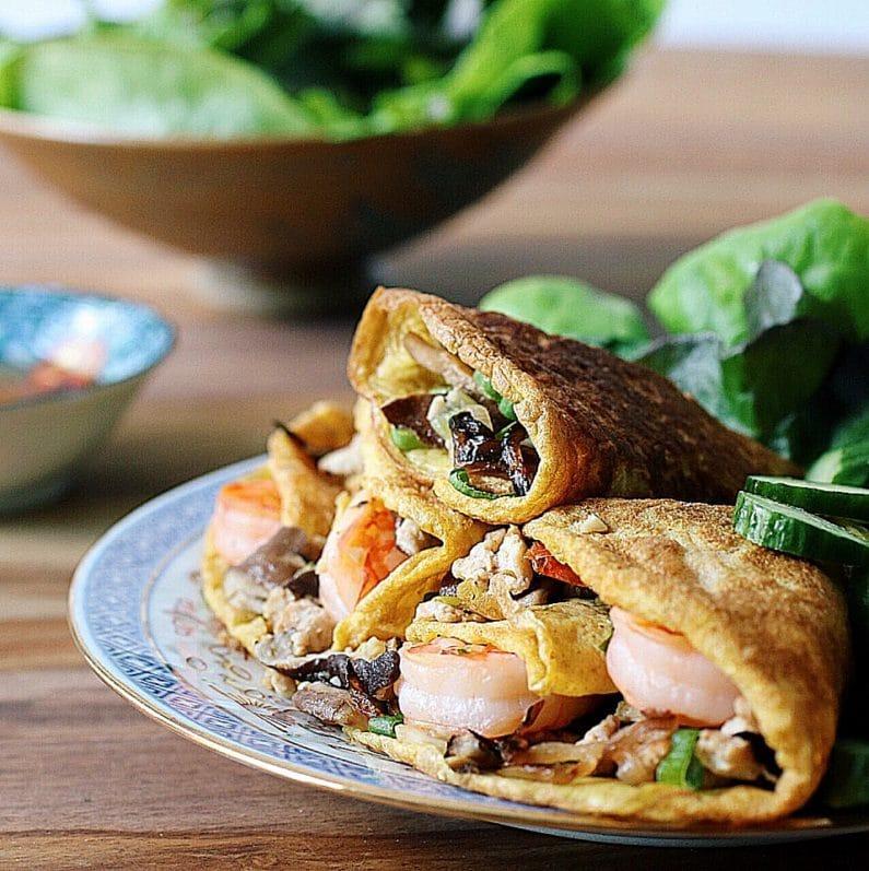 Paleo Vietnamese Aromatic Egg Wraps