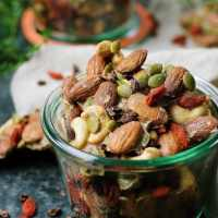 Paleo Ginger-Spiced Mixed Nuts. Paleo holiday recipe. Homemade spiced nuts. Whole30 and Keto snacks.