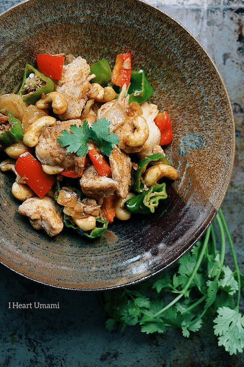 Paleo Velvet Cashew Nut Chicken. Paleo Cashew Nut Chicken. Whole30 cashew nut chicken. Keto Cashew Nut Chicken. Paleo Chinese New Year Recipes. Paleo Chinese food. Paleo Asian food. IHeartUmami.com