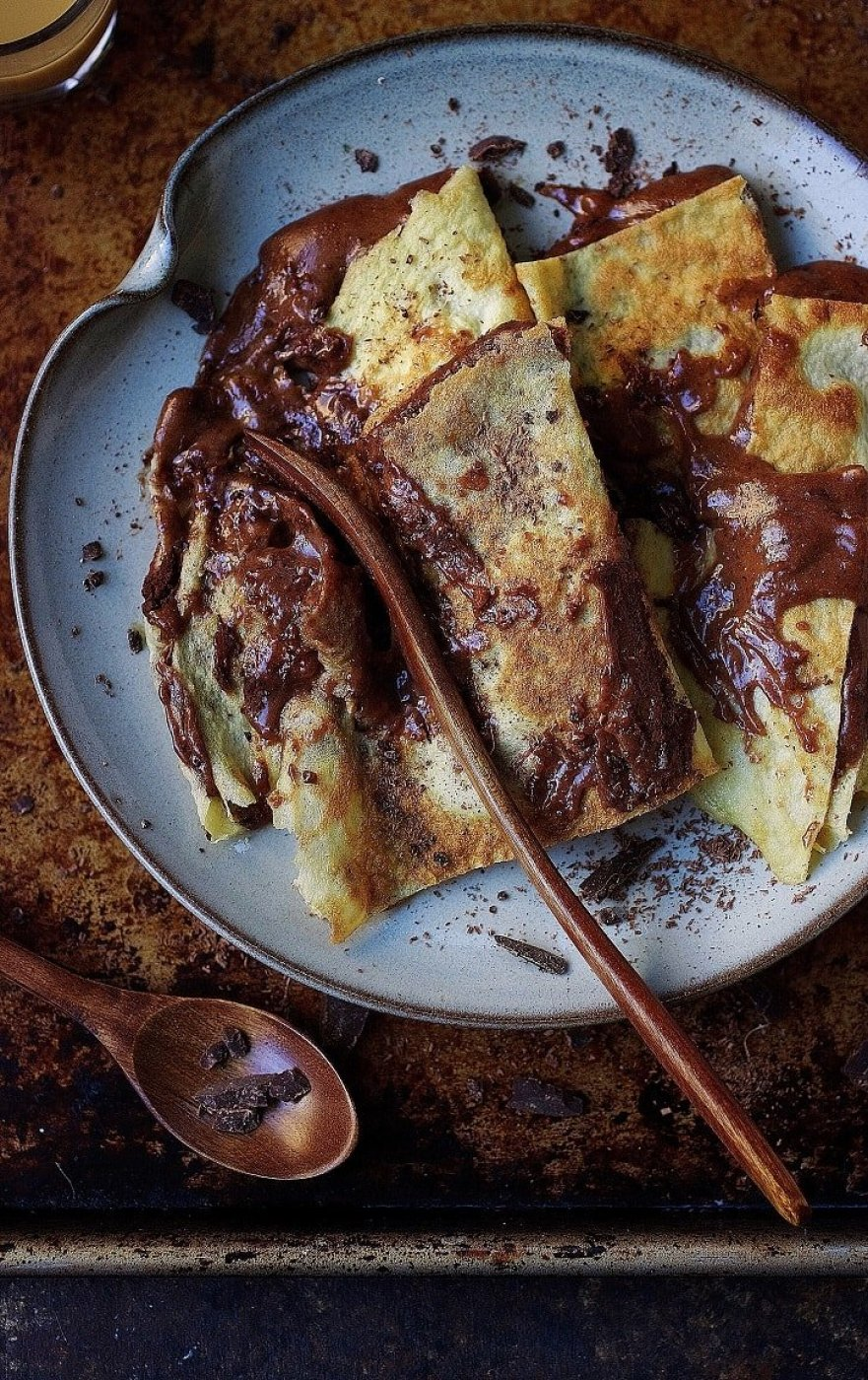 Paleo Chocolate Almond Butter Crepes from I Heart Umami