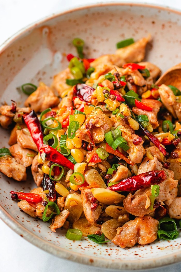 Paleo Kung Pao Chicken recipe made Whole30 and Keto friendly from I Heart Umami