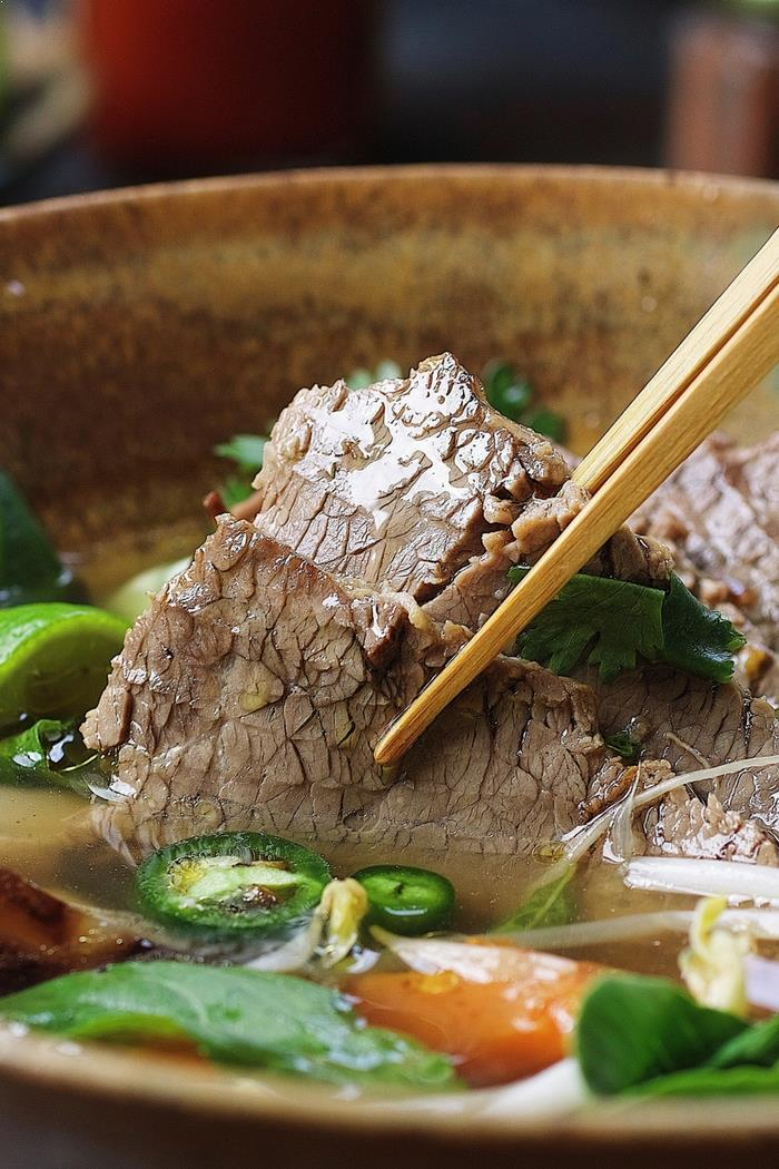 Instant Pot Beef Brisket Pho Recipe from I Heart Umami