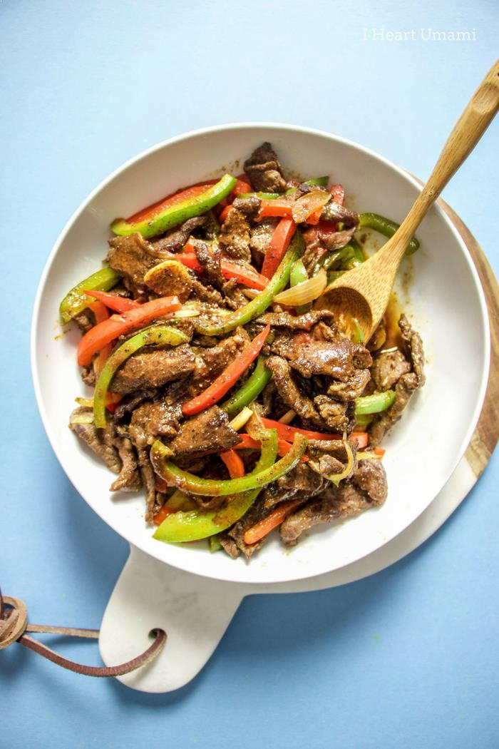 Chinese Pepper Steak Stir-Fry Recipe Paleo Whole30 Keto Gluten Free.