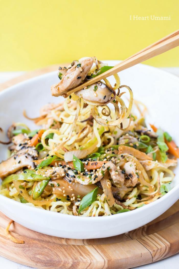 Chicken Yakisoba Noodles Recipe Paleo Whole30 Keto Low Carb from I Heart Umami