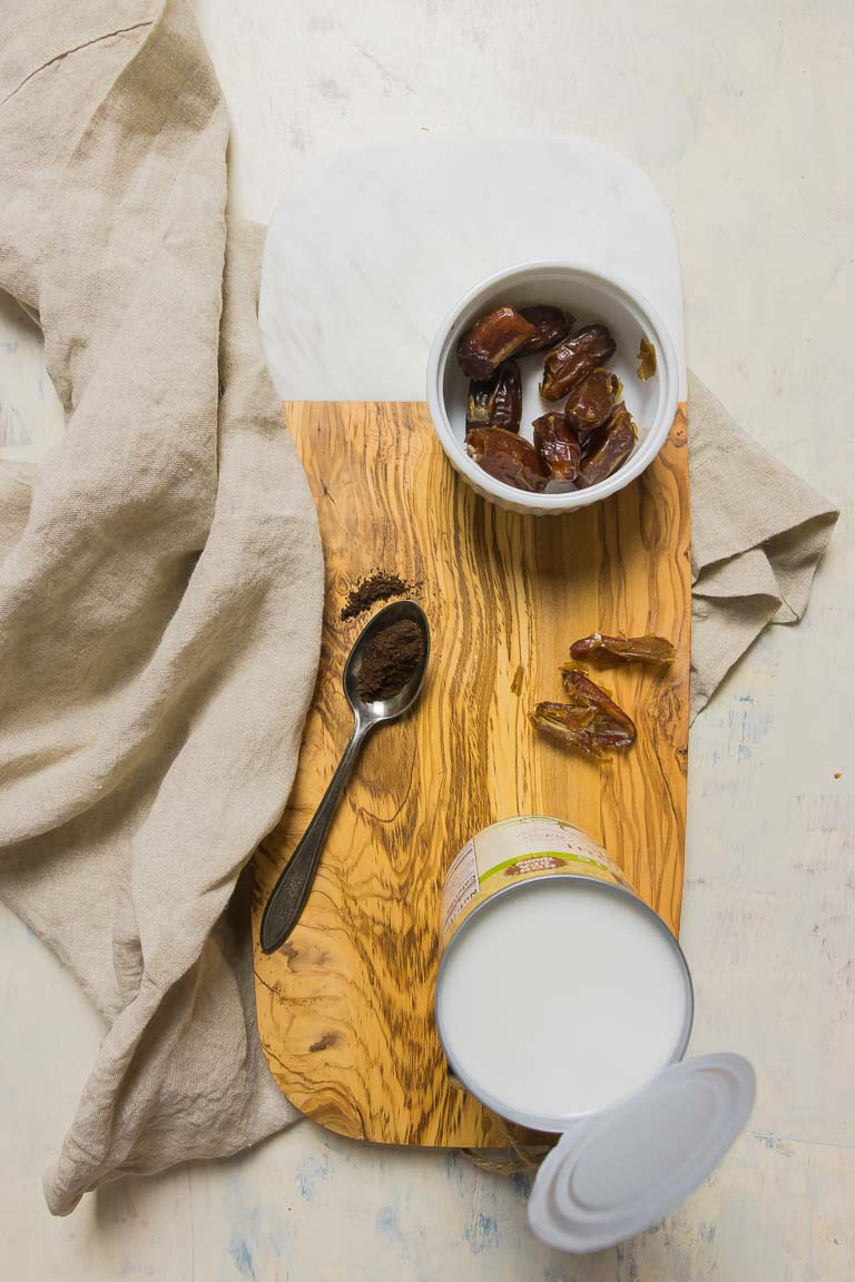 Healthy Dairy-Free Paleo Condensed Milk with coconut milk or dairy-free milk ingredients sweetened with dates.