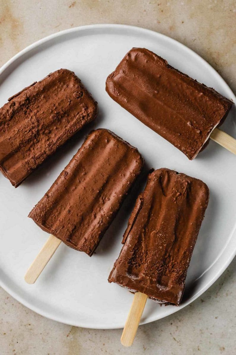 Dairy-Free Fudge Popsicles Recipe Paleo Low Carb
