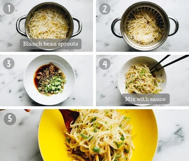 How to make Mung Bean Sprouts Salad Recipe I Heart Umami