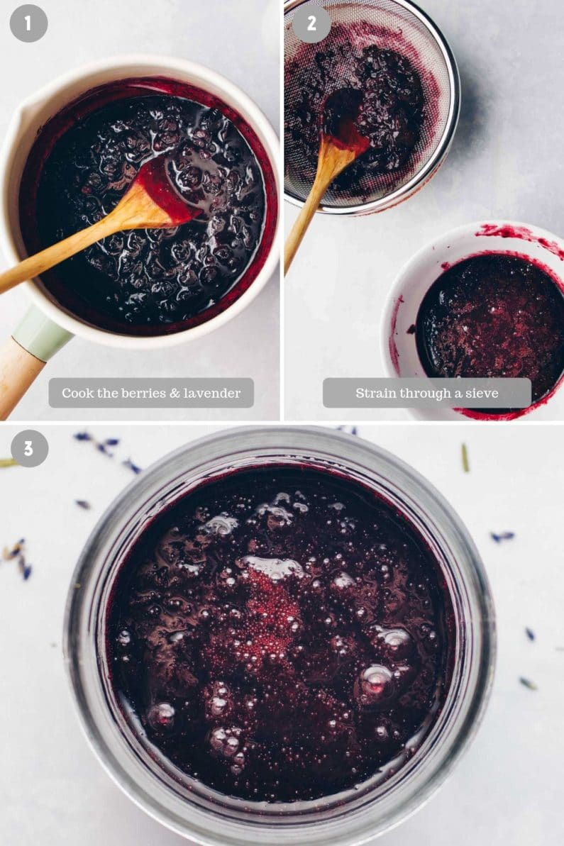 How to make homemade blueberry syrup with honey lavender
