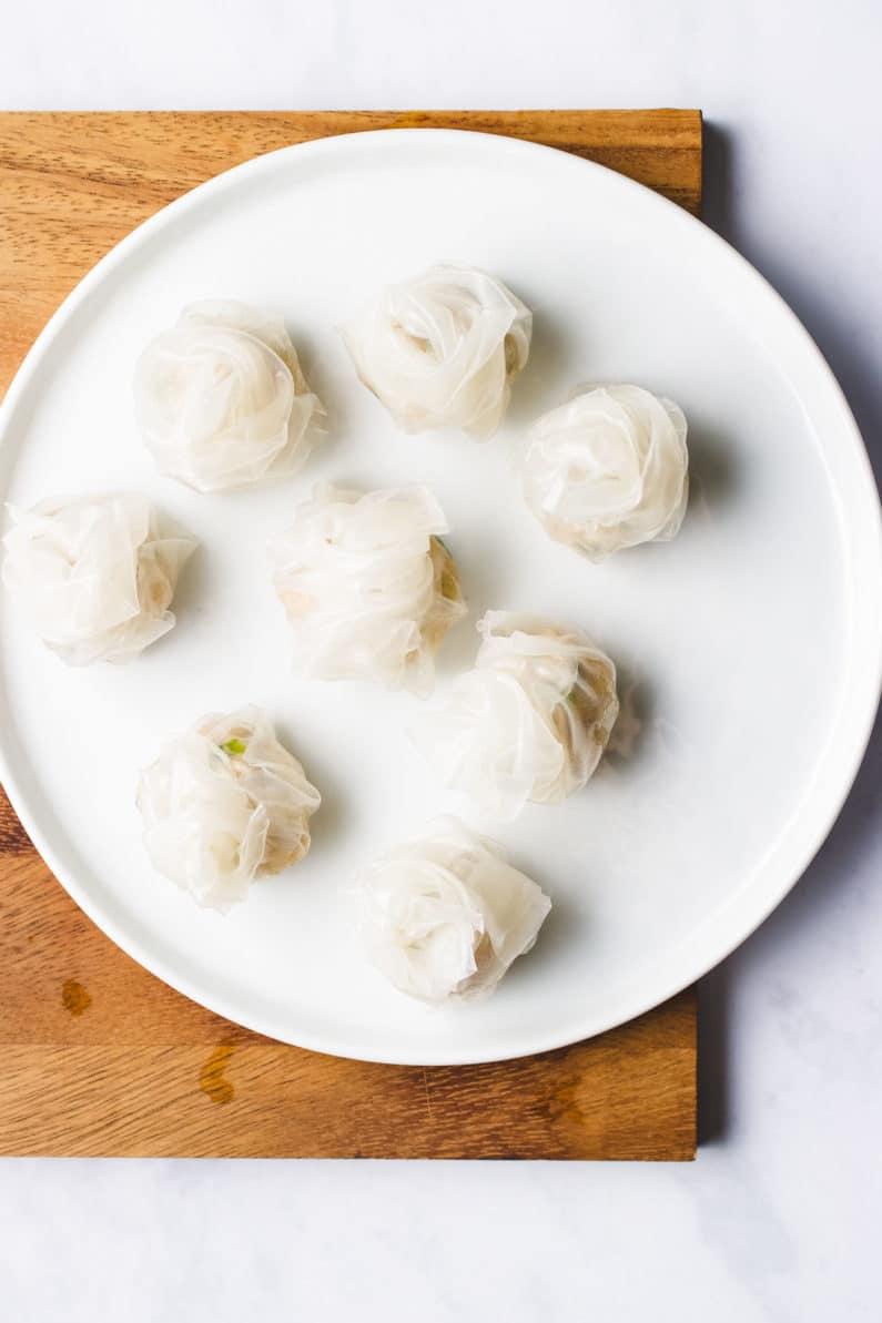Paleo wontons gluten-free