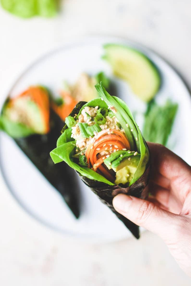 Tuna Temaki Sushi Hand Rolls recipe