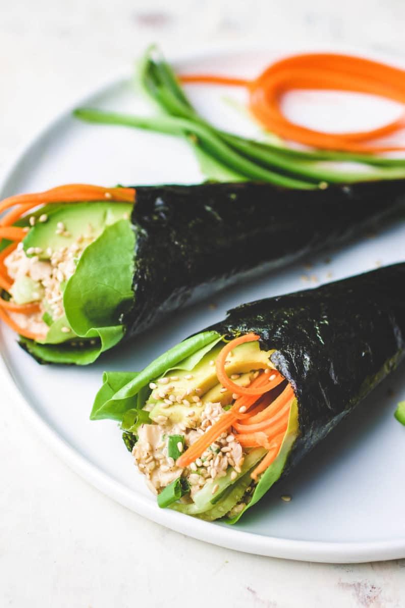 Temaki Sushi recipe is the best Low Carb Tuna Temaki Hand Roll recipe.