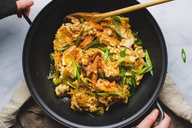 Japanese Oyakodon recipe (Oyako Donburi) gluten-free from I Heart Umami.