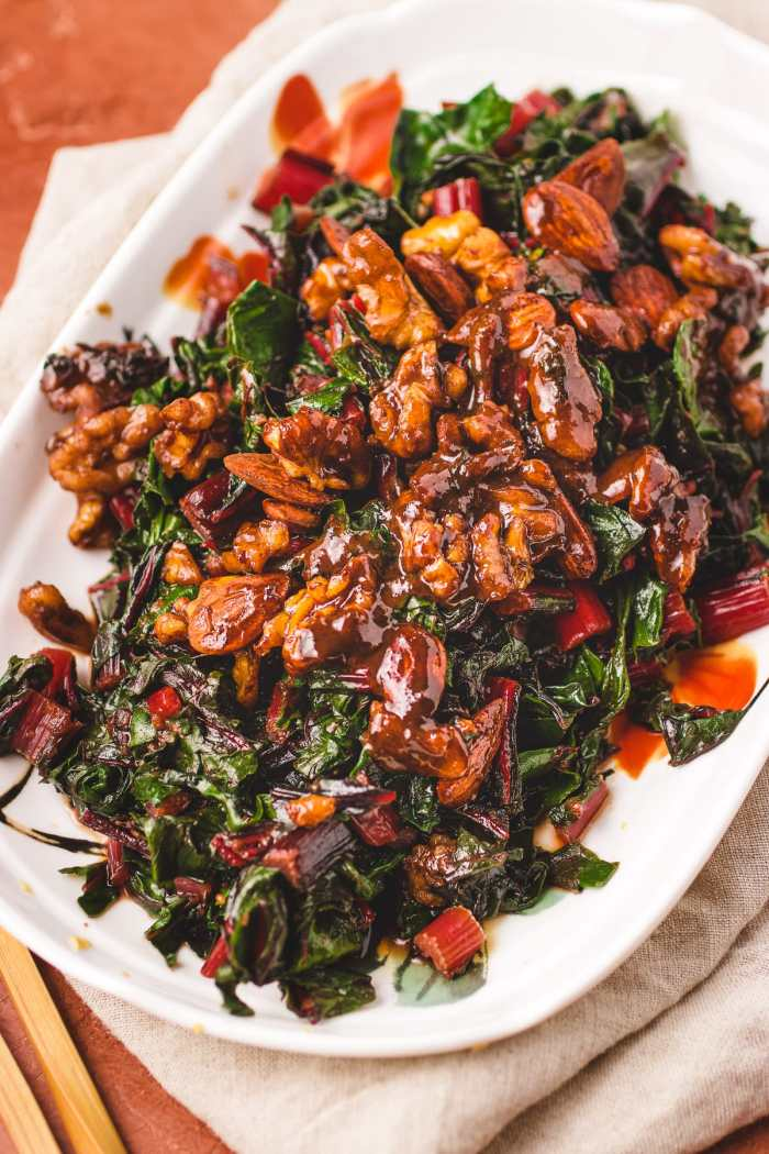 Sautéed Swiss Chard Recipe with Miso Butter is a gluten-free side dish from I Heart Umami.