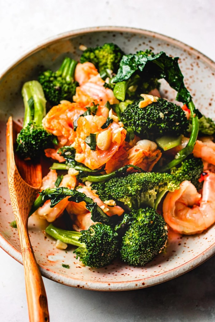 Shrimp stir fry with Broccoli I Heart Umami