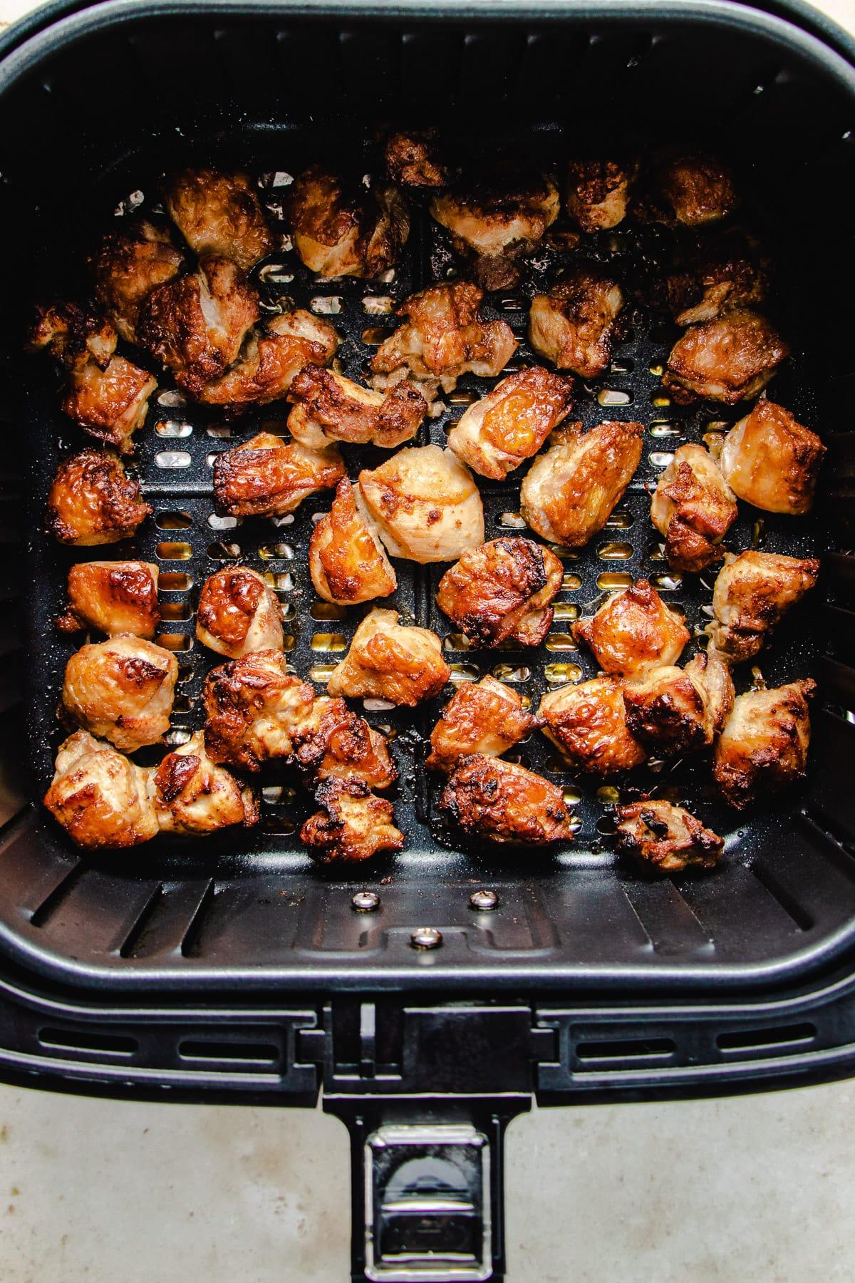 air fry the chicken to golden crisp