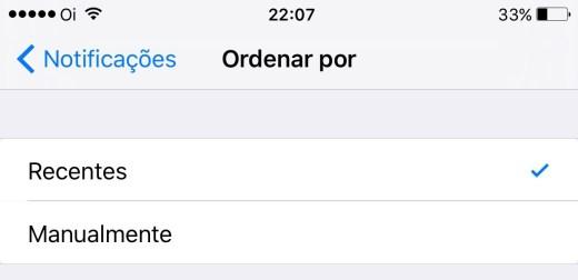 Notif iOS 9 Ordem