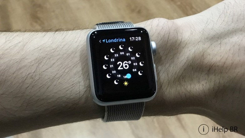 Aplicativo Tempo do Apple Watch.