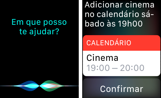 Siri no Apple Watch.