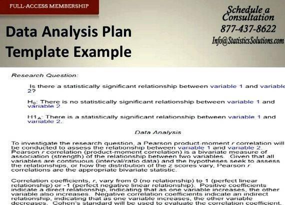 Data Analysis Sample Thesis Proposal