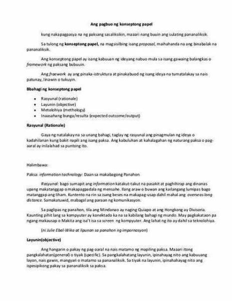 Paraan ng pananaliksik thesis proposal paksa, kakulangan ng