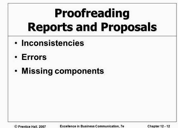 Planning writing completing reports and proposals for business