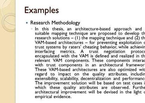 Project Methodology Sample Thesis Proposal