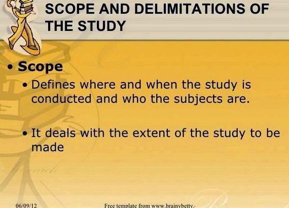 Scope Delimitation Study Research Paper Custom Paper Academic