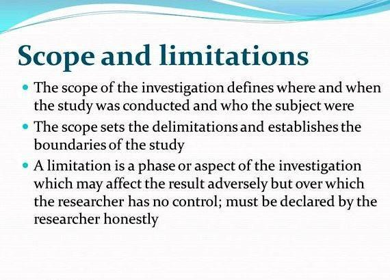 Scope And Limitation For Project Proposal Essay Academic Writing