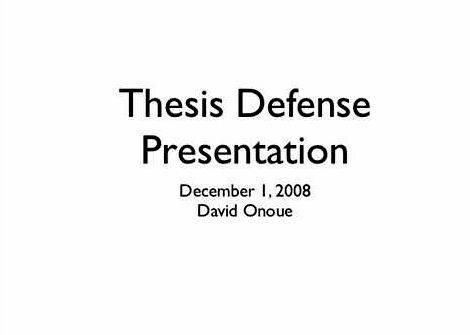 Thesis proposal defense presentation ppt downloads