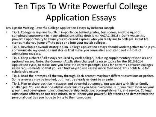 Tips for writing your college admissions essay requirements