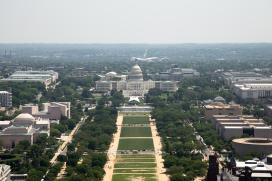 View of the US Capitol from the Washington Monument