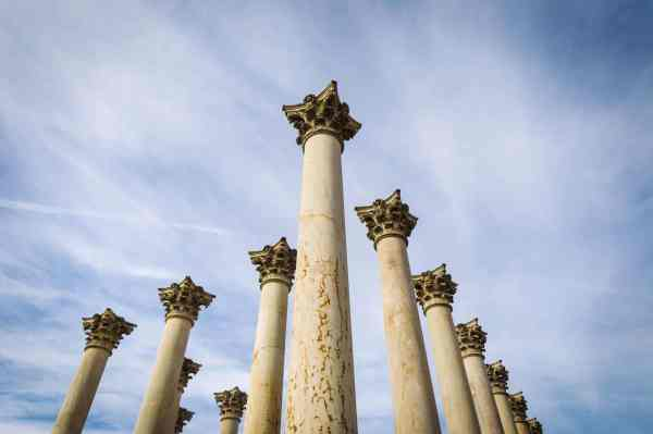 Columns National Arboretum Washington DC