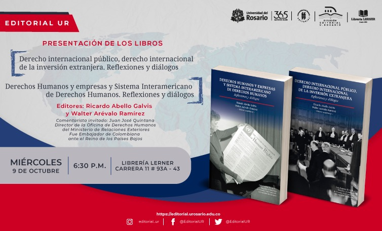 Two new books co-edited by Ricardo Abello Galvis