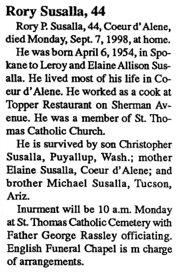 Scanned Obituaries, IHM Alumni, family and friends