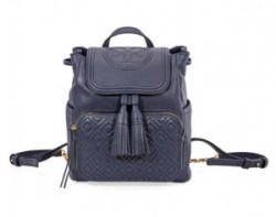 ihocon: TORY BURCH Fleming Leather Backpack- Royal Navy背包