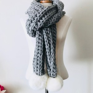 The Pop Up Pom Scarf